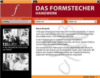 Screenshot vom Formstecher Handwerk aus dem Multimediaterminal.